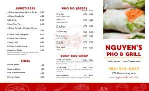 Vietnamese Grill Takeout Menu