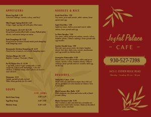 Leafy Chinese Takeout Menu