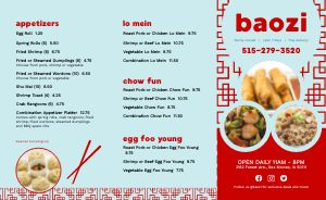 Chinese Lunch Takeout Menu