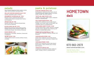 Dining Deli Takeout Menu