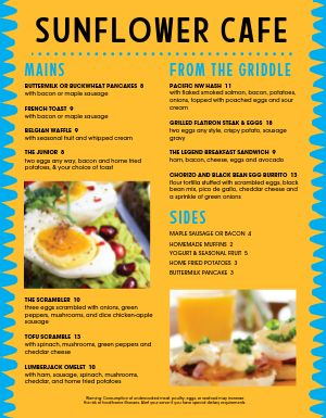 Breakfast Grill Menu