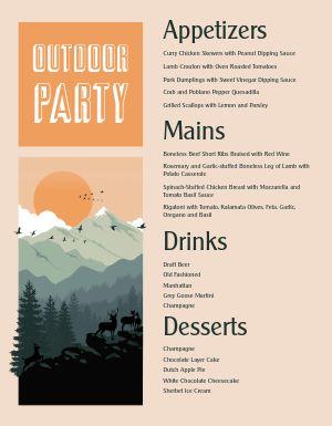 Outdoor Party Menu