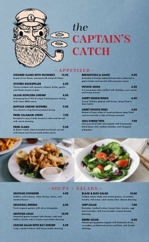 Casual Seafood Menu