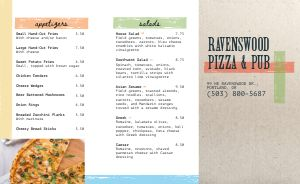 Spring Pizza Takeout Menu