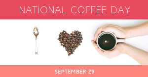 National Coffee Day Facebook Post