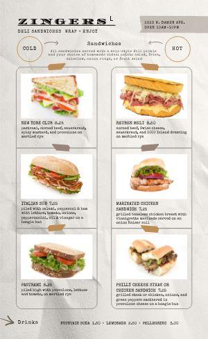 Sandwich Squares Deli Menu