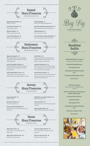 Catering Cuisine Menu