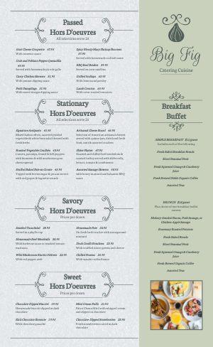 Catering Cuisine Menu