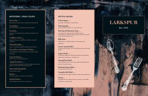 Modern Fine Dining Folded Menu