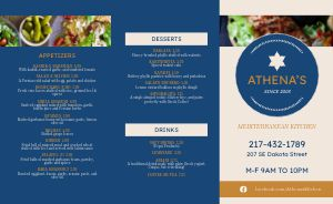 Greek Dining Takeout Menu