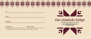 Winter Holiday Gift Certificate