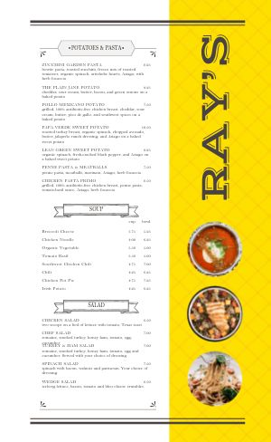 Deli Dine In Menu