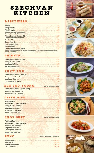 Chinese Kitchen Menu