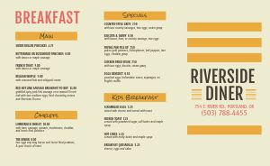 Dotted Diner Takeout Menu