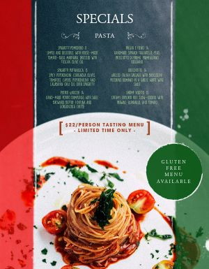 Italian National Colors Menu
