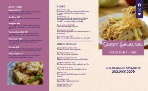 Thai Dining Takeout Menu