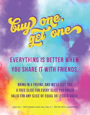 Colorful BOGO Flyer