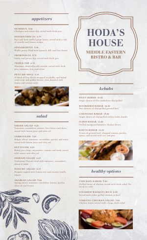 Greek Bistro Menu