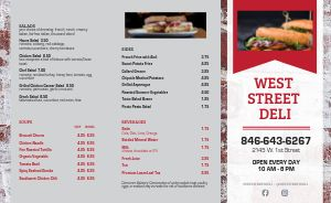 Sample Deli Takeout Menu