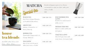 Cafe List Digital Menu Board