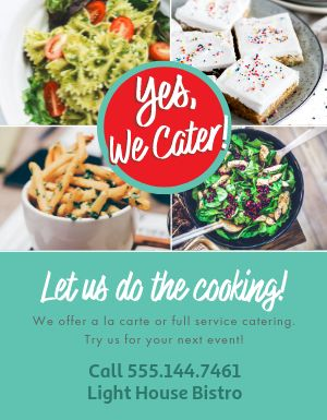 Restaurant Catering Flyer