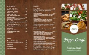 Classic Wood Fired Pizza Takeout Menu
