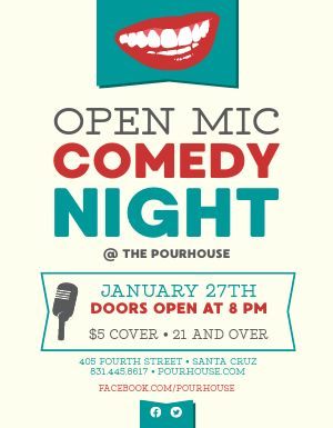 Comedy Open Mic Flyer