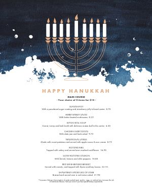 Hanukkah Art Menu