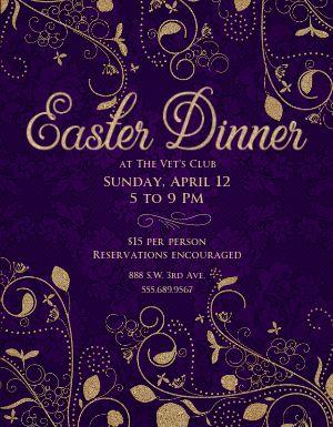 Easter Dinner Flyer