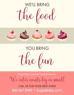 Dessert Catering Flyer