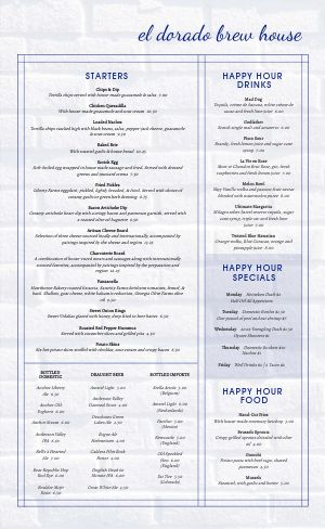 Pub Brickhouse Menu