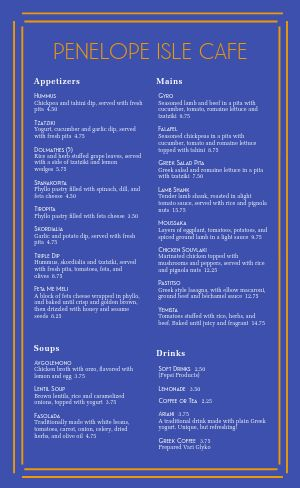 Simple Greek Menu