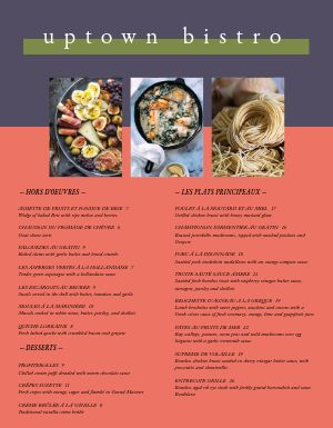 French Uptown Bistro Menu