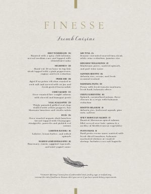 Resplendent French Menu
