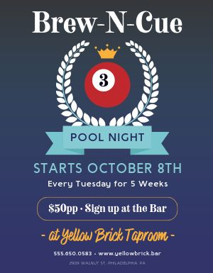Pool League Flyer