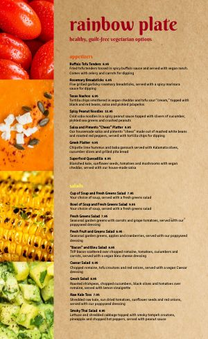 Vegan Eatery Menu