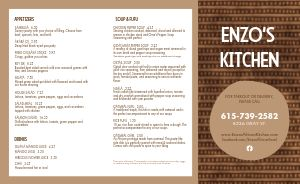 African Kitchen Cuisine Takeout Menu
