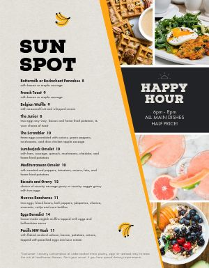 Breakfast Happy Hour Menu