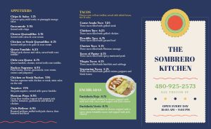 Colorful Tacos Mexican Takeout Menu