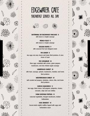 Centered Breakfast Menu