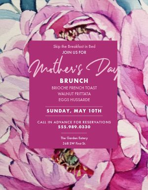 Mothers Day Art Flyer