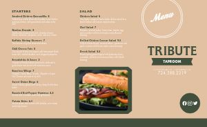 Taproom Burger Bar Takeout Menu