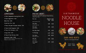 Gourmet Vietnamese Takeout Menu