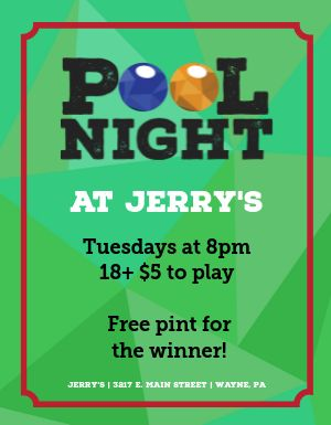 Pool Night Flyer