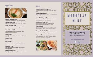 Middle Eastern Dining Takeout Menu
