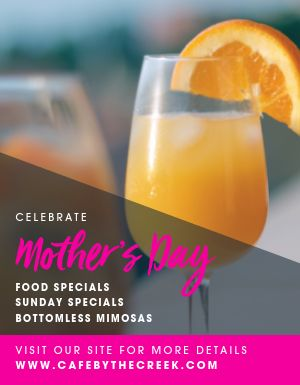 Mothers Day Food Specials Flyer