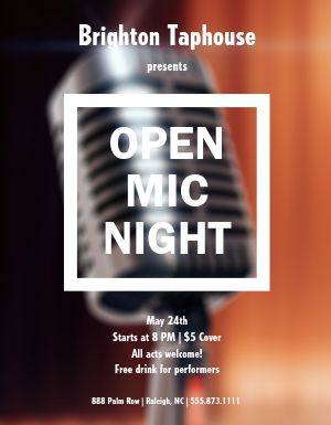 Open Mic Event Flyer
