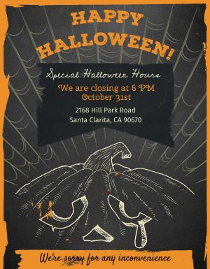 Halloween Schedule Flyer