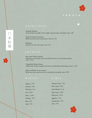 Abstract Japanese Menu