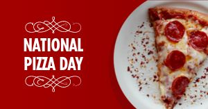 National Pizza Day Facebook Post